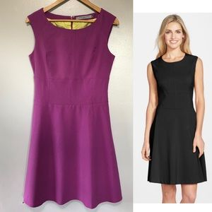 Marc New York Purple Woven Fit & Flare Dress 8